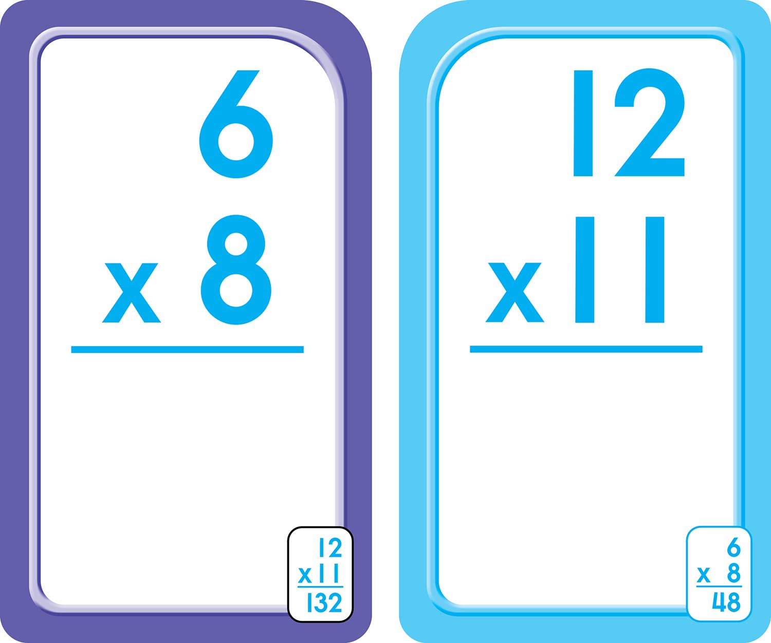 3rd 4th and 5th grade multiplication flash cards 0 12 raff and friends. Black Bedroom Furniture Sets. Home Design Ideas
