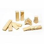 14-Piece Magnetic Wood Building Set - Natural