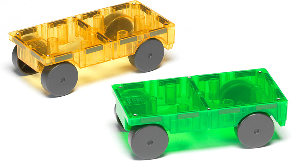 Magna Tiles Cars 2 Piece Expansion Set Adventure Toys