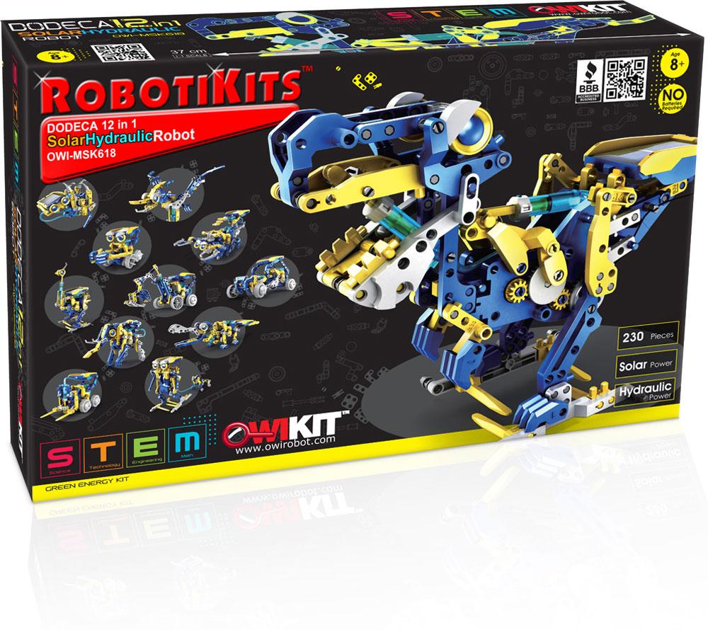 Dodeca 12 In 1 Solar Hydraulic Robot Tutoring Toy Elenco Snap Circuits Green Alternative Energy Kit