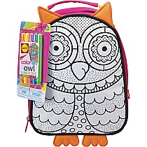 Color an Owl Lunch Bag