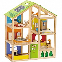Hape All Season Doll House Fully Furnished