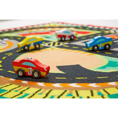 Round The Race Track Rug By Melissa Doug