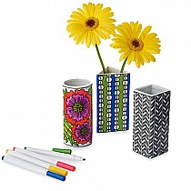 Color Your Own Porcelain Vases