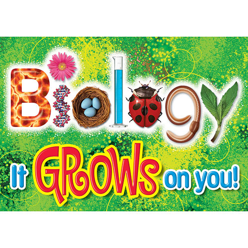 Biology - it Grows On You. Argus Poster - from Trend Enterprises ...
