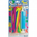 25 Pc Twisty Balloon Set W/Pump