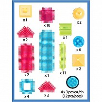 56 Piece Bristle Block Set