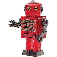 Original 3D Red Robot Crystal Puzzle