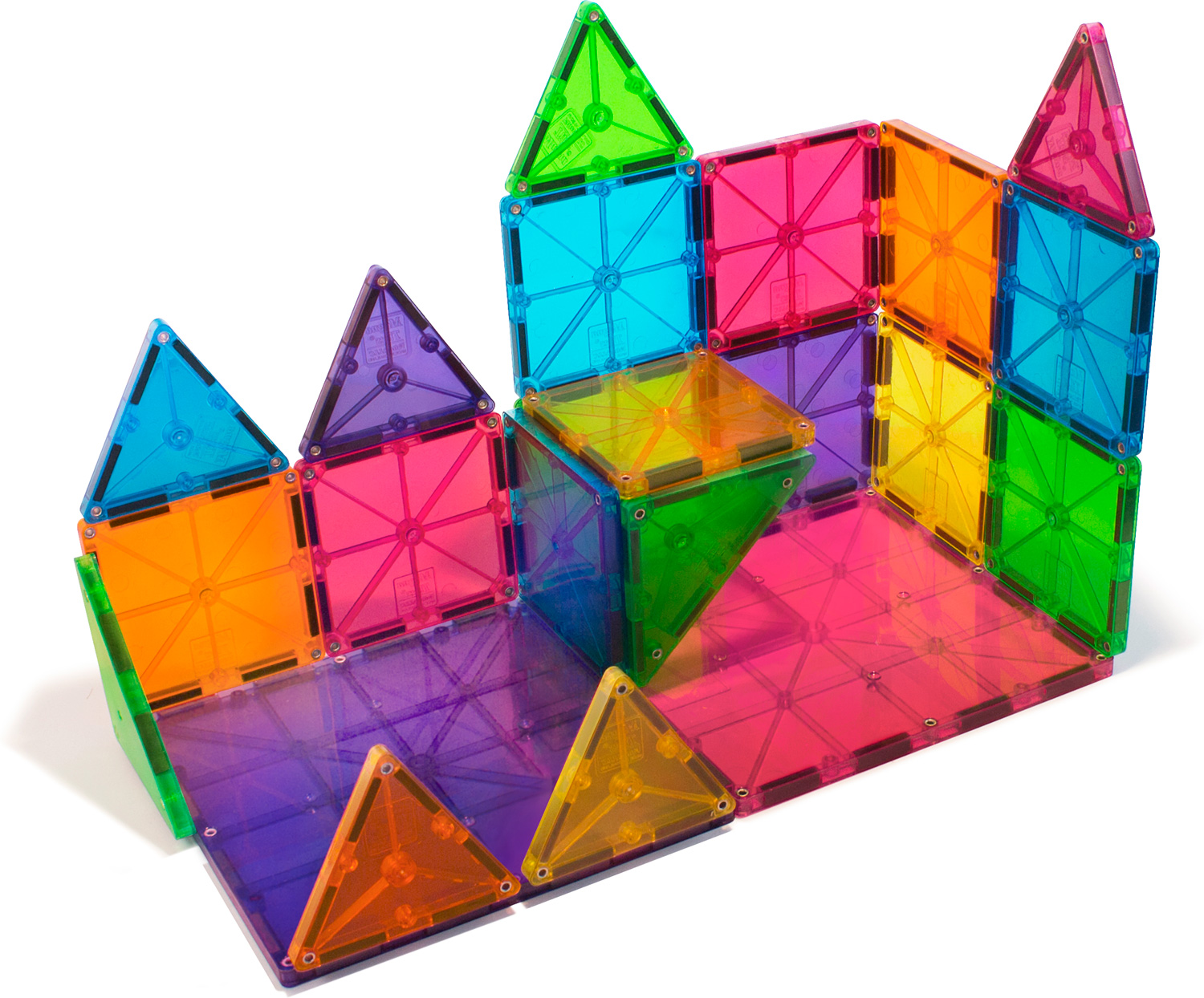 magna tiles clear colors 32 piece set boing jps toy shop