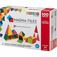 Magna-Tiles™ Solid Colors 100 Piece Set