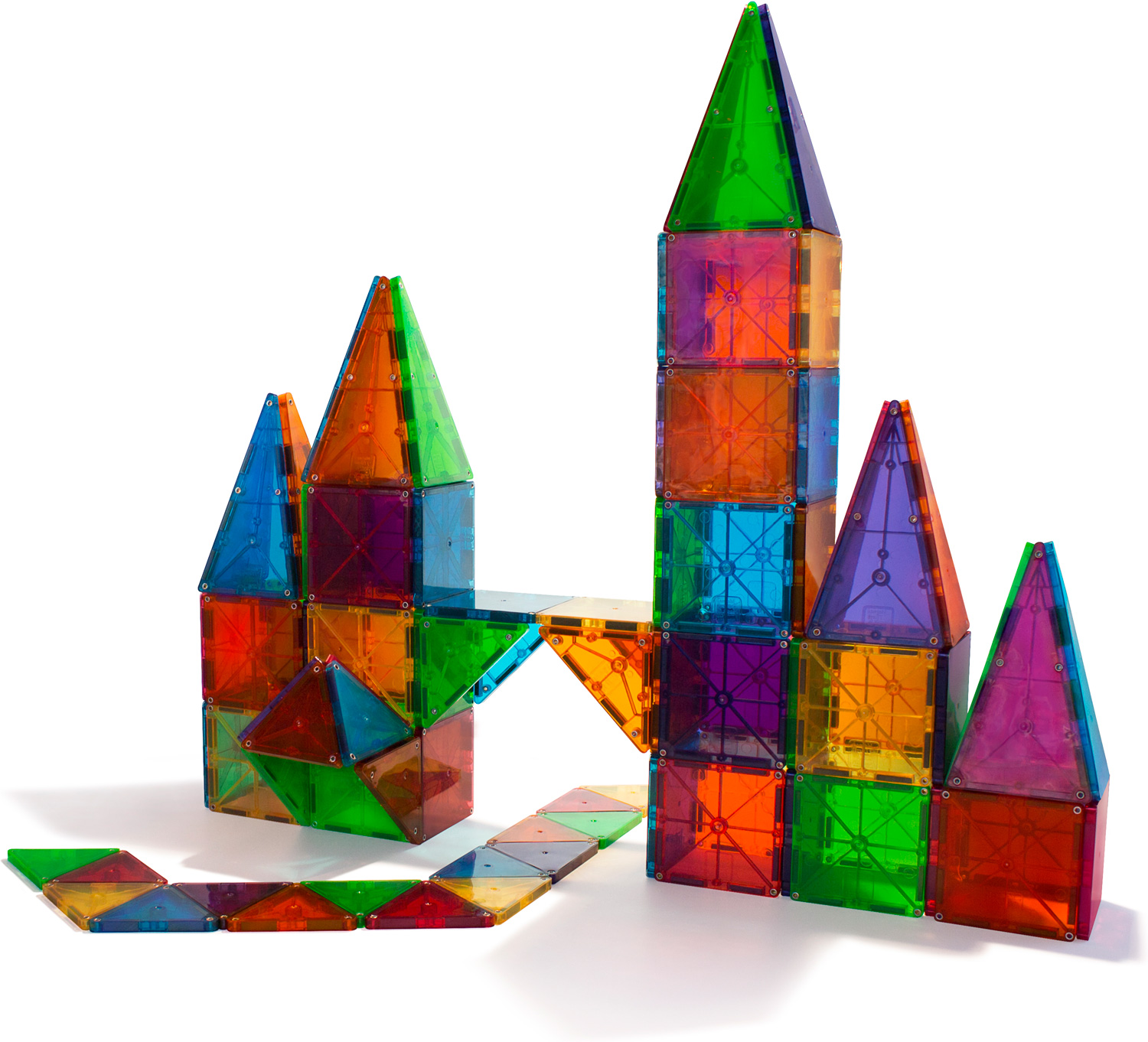 magna tiles clear colors 100 piece set toy castle