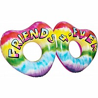 Double Heart Friends Pool Float