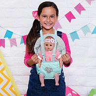 Play Time Zig Zag Baby Carrier Doll