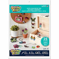 Shrinky Dinks Creative Pack 25 Sheets Crystal Clear