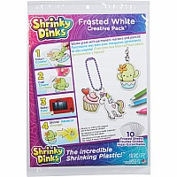 Shrinky Dinks Creative Pack 10 Sheets Frosted White