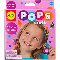 ALEX Toys POPS Craft 3 Feather Hair Clips