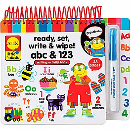 ALEX Toys Little Hands Ready, Set, Write and Wipe! ABC and 123