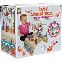 ALEX Jr. Busy Bead Maze Mermaid Wooden Activity Center