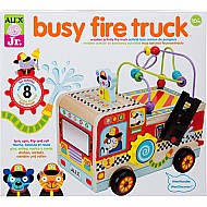 ALEX Jr. Busy Fire Truck Wooden Activity Center