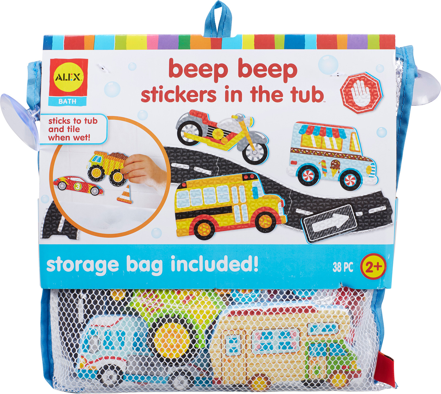 ALEX Bath Beep Beep Stickers in the Tub - The Wooden Toy