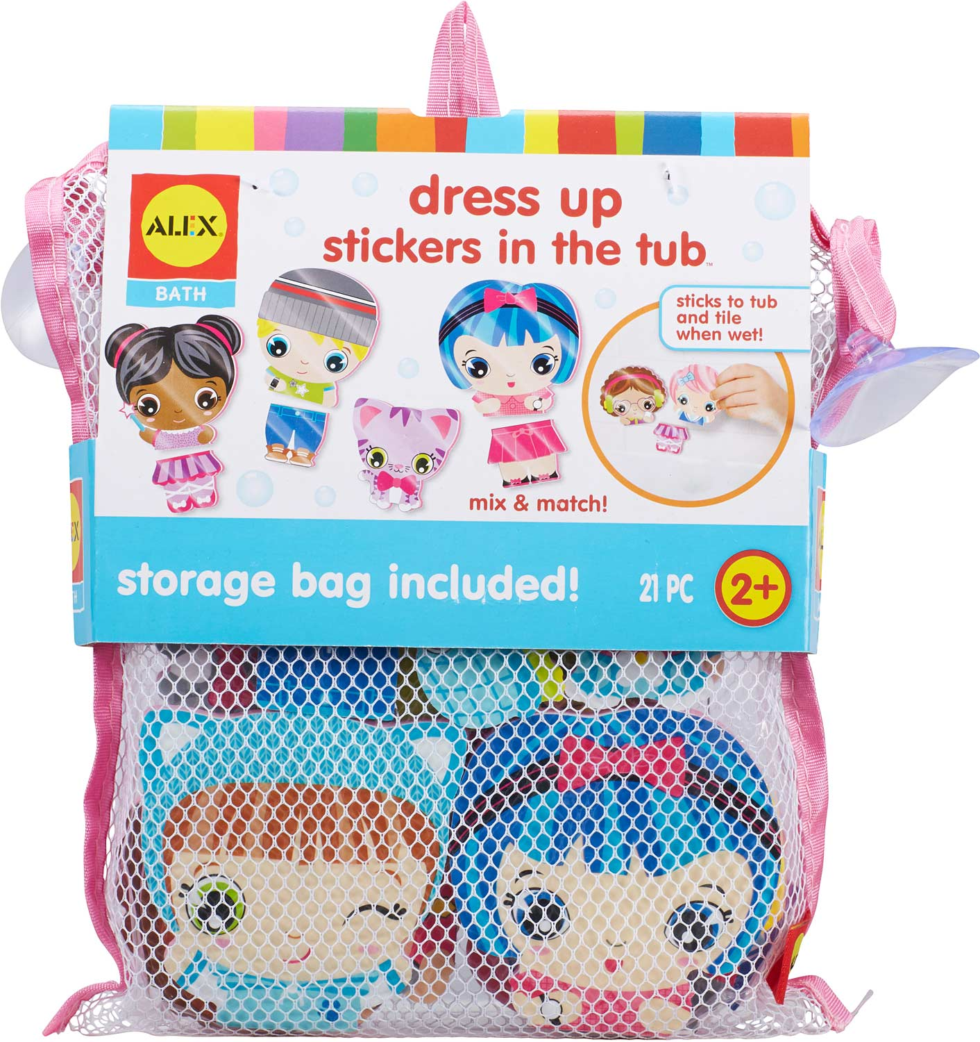 ALEX Bath Dress Up Stickers in the Tub - The Wooden Toy