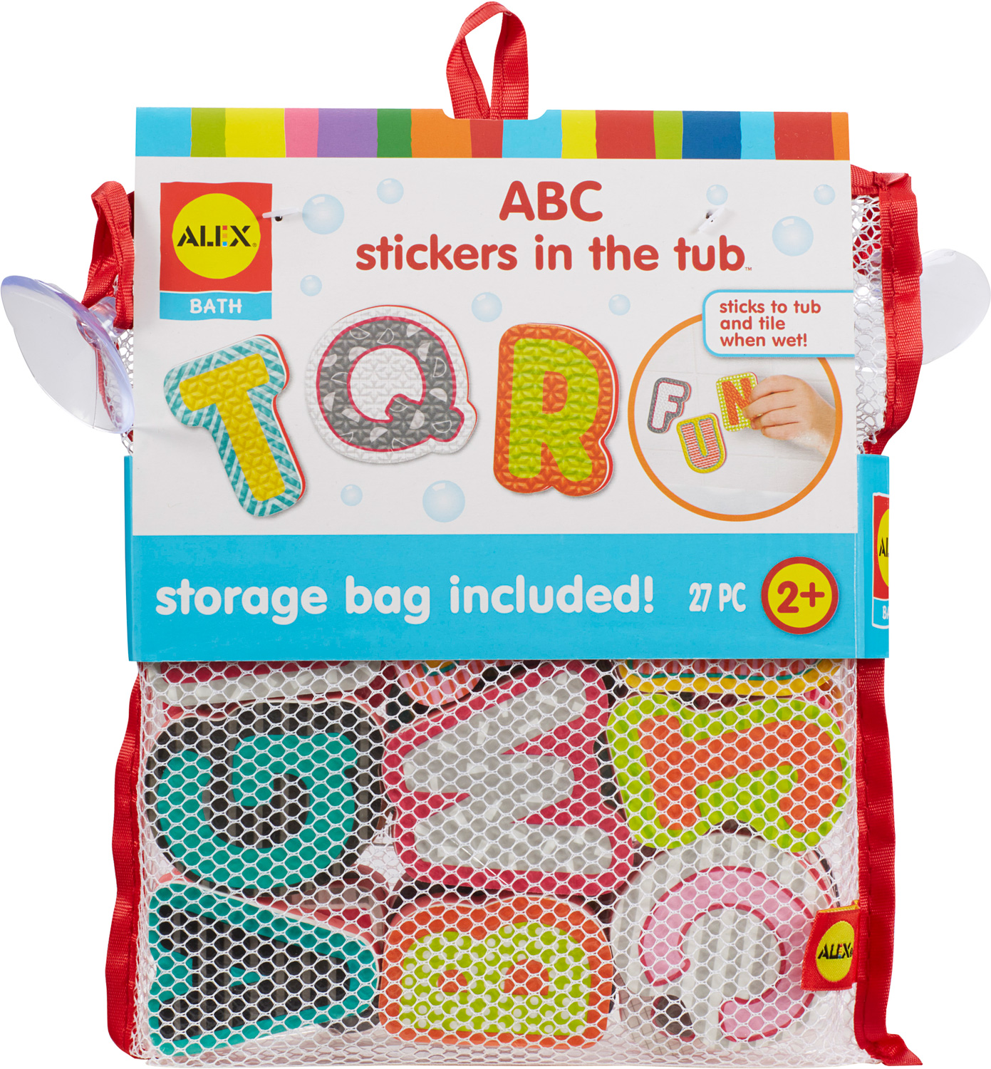 ALEX Bath ABC Stickers in the Tub - The Wooden Toy
