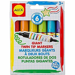 ALEX Toys Artist Studio 6 Giant Twin Tip Markers