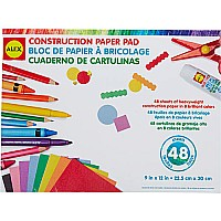 ALEX Toys Artist Studio Construction Paper Pad-48 Sheets, 9x12