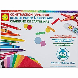 Construction Paper Pad-48 Sheets, 9x12