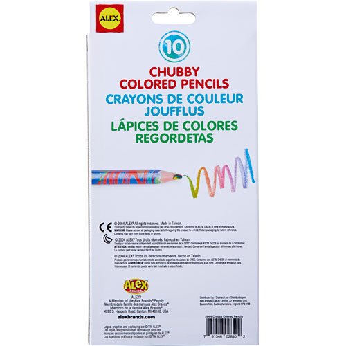 Chubby colored pencils
