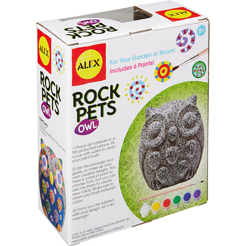 Alex toys craft rock pets owl boing jps toy shop for Where to buy rocks for crafts