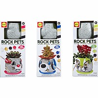 ALEX Craft Rock Pets Mini Planters Asst.