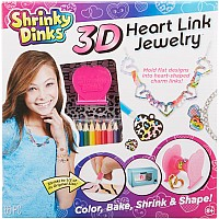 Shrinky Dinks 3D Heart Link Jewelry Kit