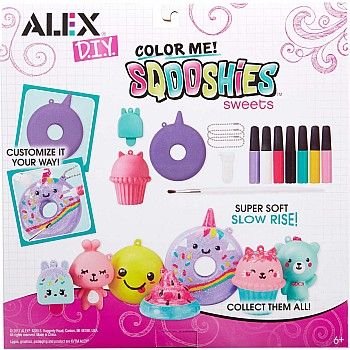 DIY Color Me Sqooshies - Sweets