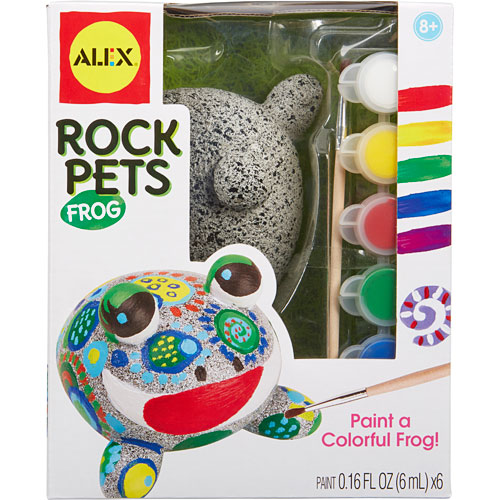 Alex toys craft rock pets frog the wooden toy for Where to buy rocks for crafts