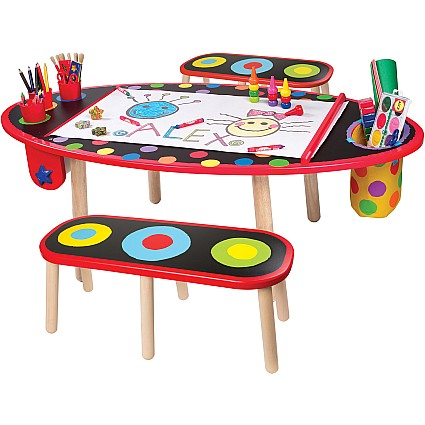 Charming Super Art Table W Paper Roll