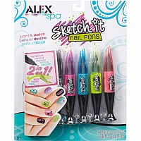 ALEX Spa Hot Hues Sketch It Nail Pens