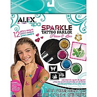 ALEX Spa Fun Sparkle Tattoo Parlor-Peace and Love