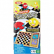 Ideal Magnetic Go! Checkers Travel Game