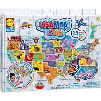 ALEX Toys Rub a Dub USA Map in the Tub