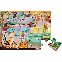Janod Tactile Puzzle -A Day at the Zoo