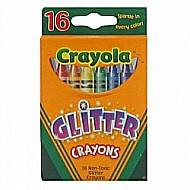 Crayons 16 Ct Multicolor Glitter