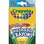 Crayons, 16 Washable Crayons Reg Size 12/ 36