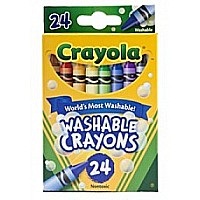 Crayons, Washable 24 CT 36