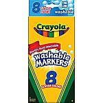 Crayola Washable Mrkr Thin 8 Pack 6/ 24