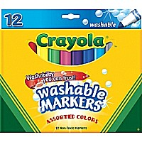 Crayola Washable Mrkr Broad 12/ PK 6/ 24