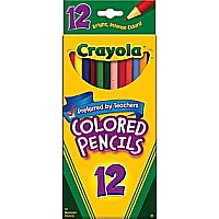 Crayola 12 Asst. Long Pencils 12/ 48