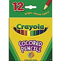 Crayola 12 Asst Short Pencils 12/ 48