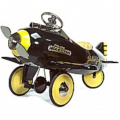 Pedal Airplanes Yellow Jacket Black