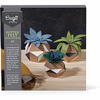 Craft Crush Potted Felt Succulents Kit